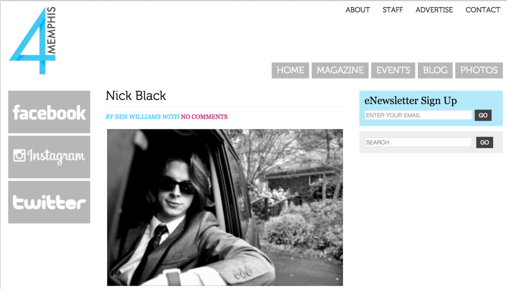 nick black 4 for memphis magazine article