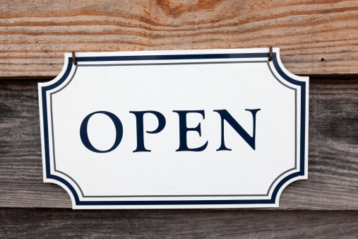 Open Sign on Wood Boards.JPG