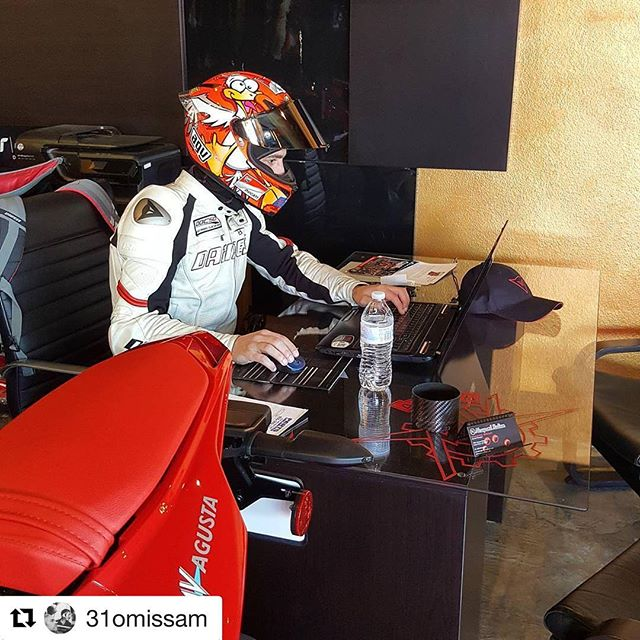 Paperwork later ride first. #dedication #liveandbreatheit #Repost @31omissam ・・・ Multitasking... 👀 #AGVRider #AGV #Dainese #DaineseCrew #MVAgusta #Ducati #NewportItalian #MotoMeccanica #DOCSD