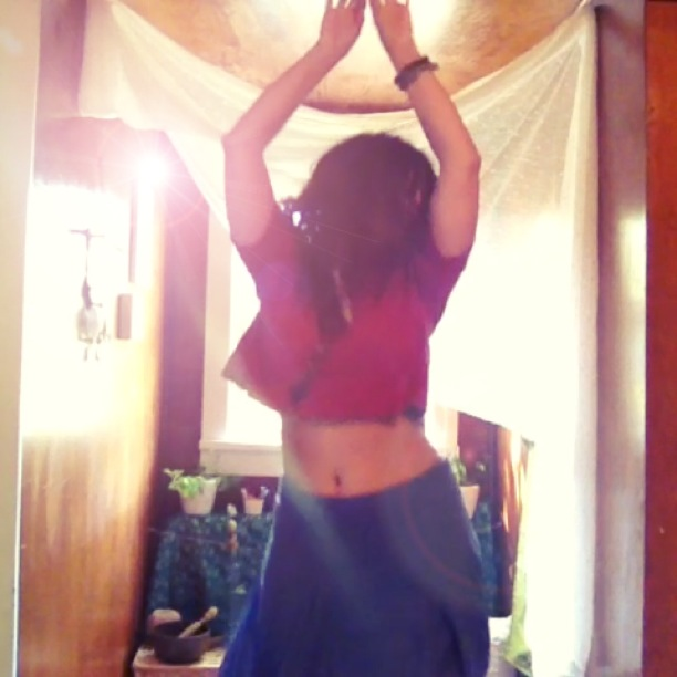 dancing free in my sacred space