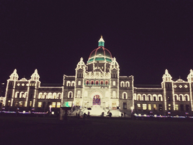 We watched the lighting of the Parliament Building as both children and adult choirs sang Christmas music.  Cedar danced on the grass with a few little girls.  It was dreamy.