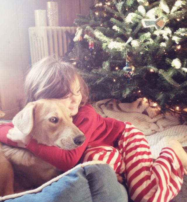 Salish puppy & Cedar