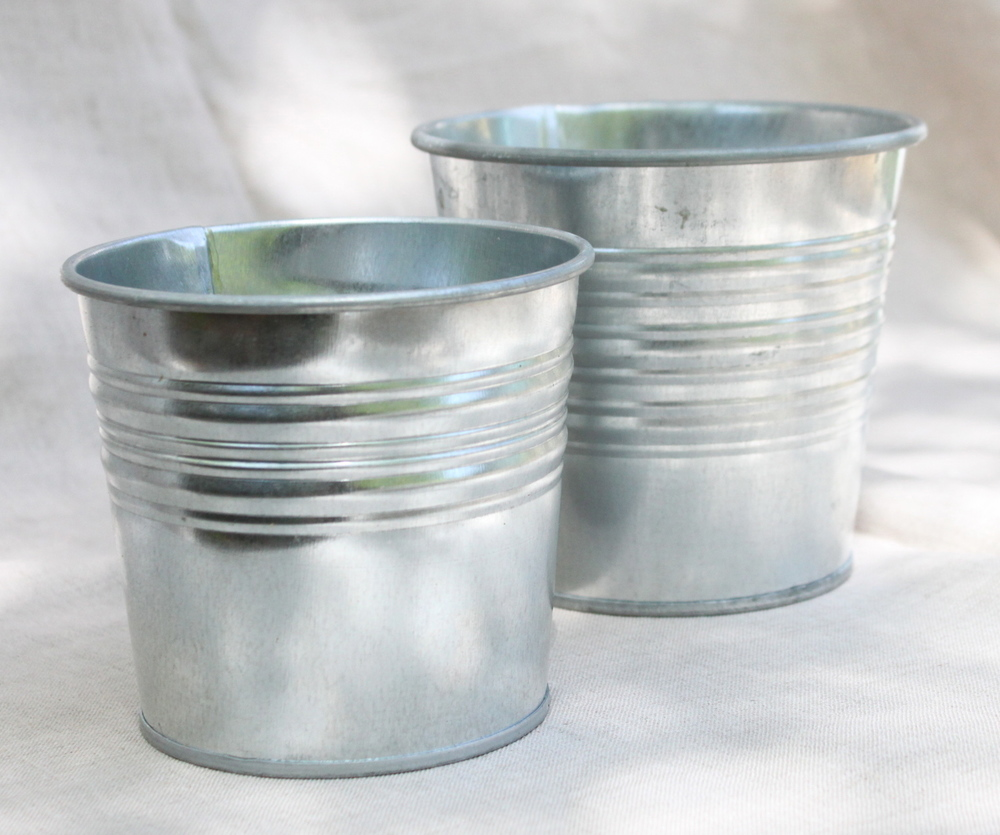 Galvanized buckets, assorted sizes $3 each