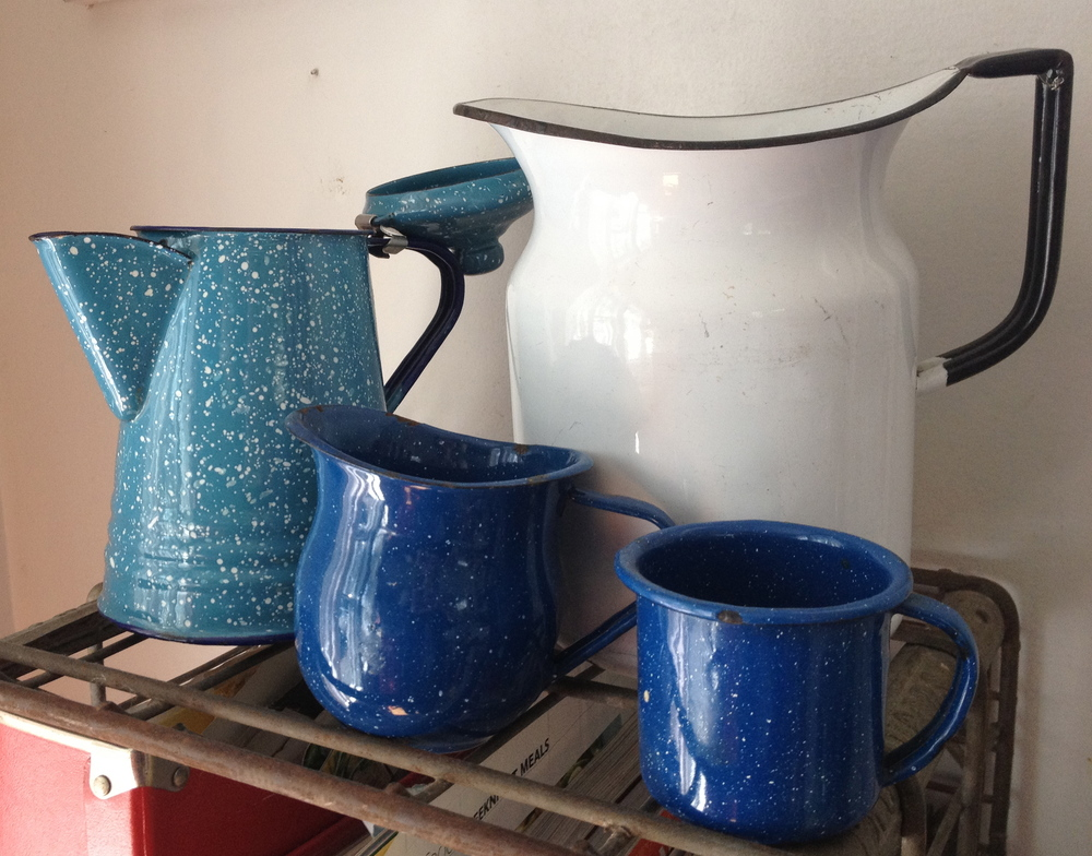 Vintage enamelware assorted sizes   $3-8 each