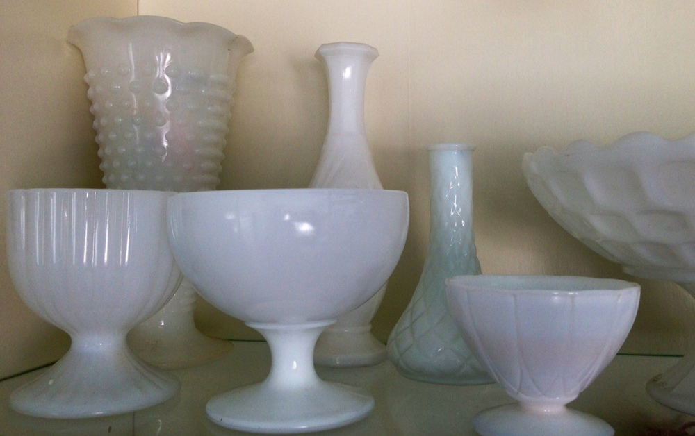 Vintage milk glass-assorted sizes and shapes  $4 each