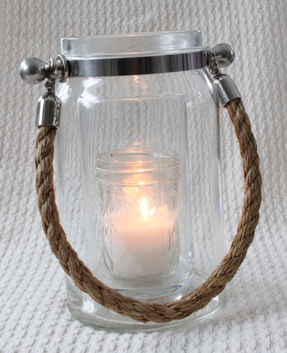 Rope handled lantern-large  $15 each