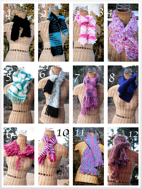 scarves collage