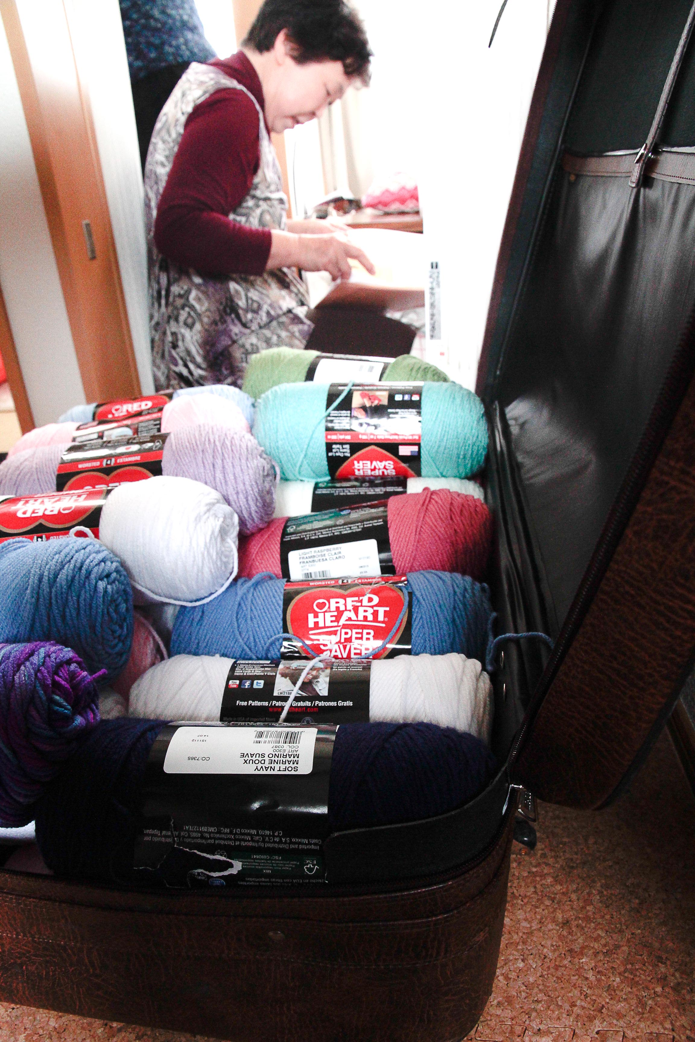 Loved receiving this big suitcase of yarn from the USA!