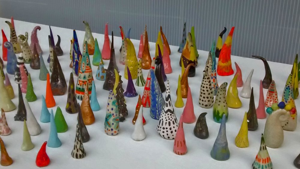 DETAIL SHOT OF 300 CONES AT ROADSIDE ATTRACTIONS