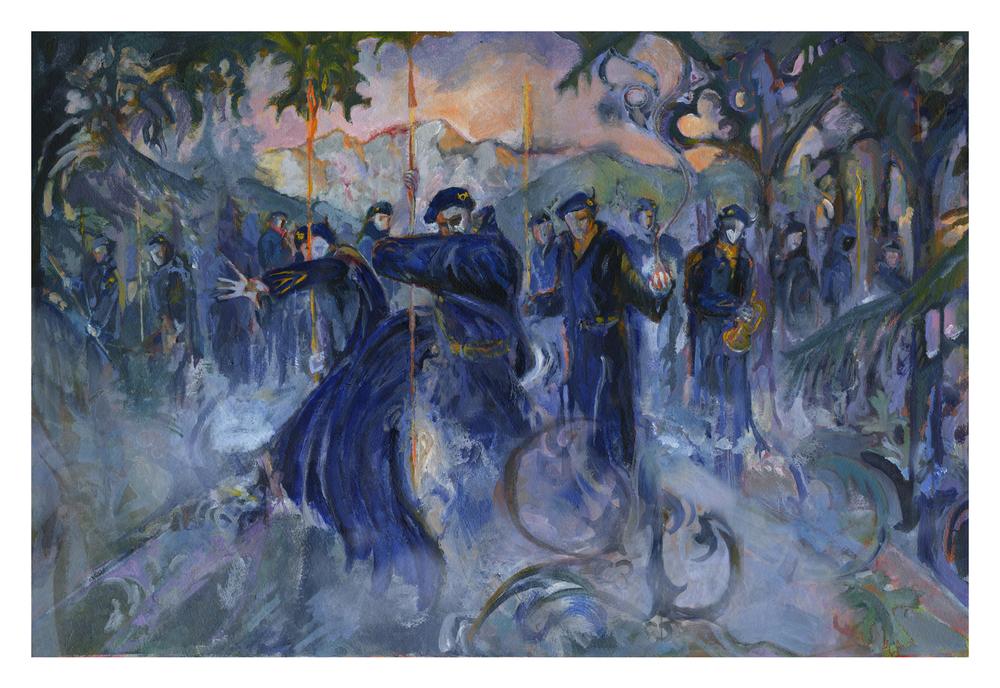 Blue Devils, Master Print by Revere La Noue
