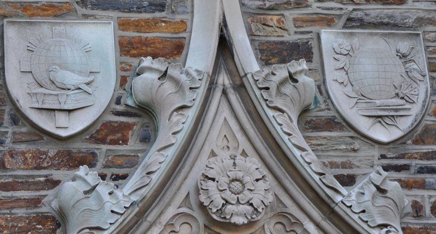 La Noue took a series of photographs of Gothic architectural features on the campus of Duke University looking for a way to bridge the American tradition with the French tradition.