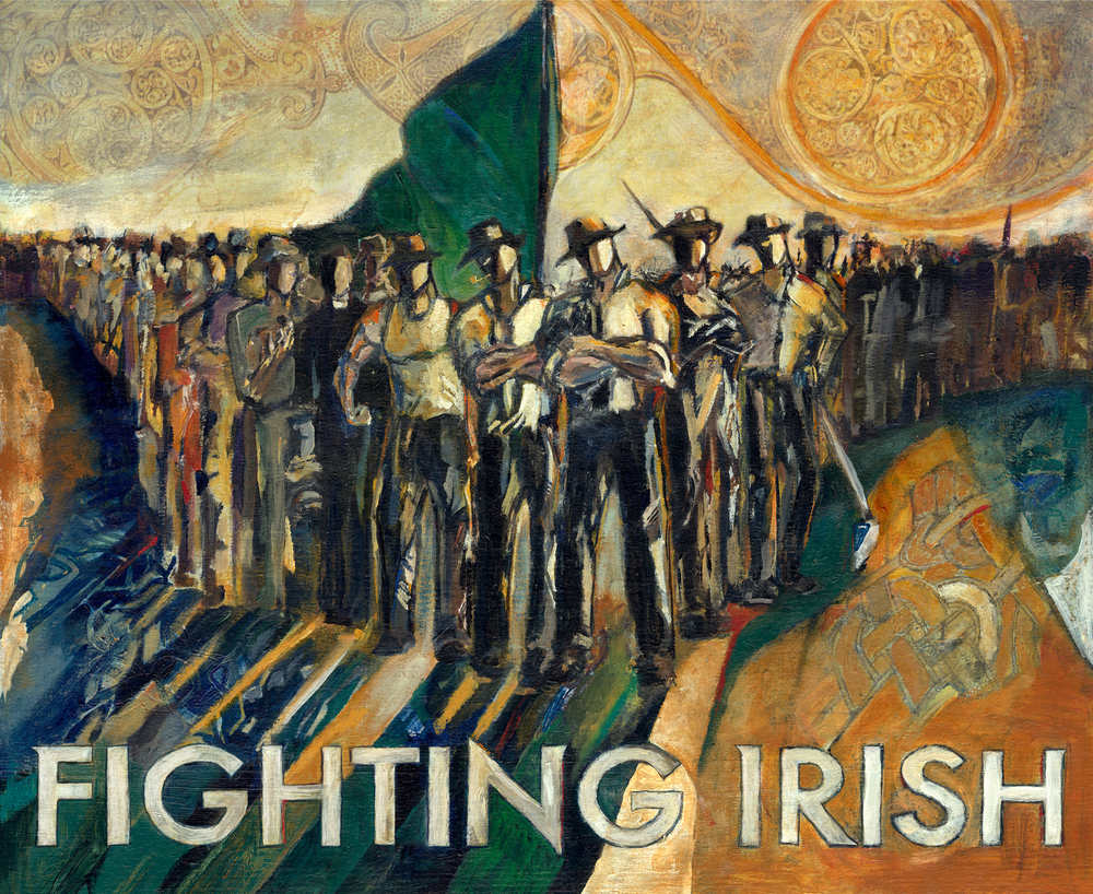 The Original Fighting Irish, Pride and Courage is a print by Revere La Noue