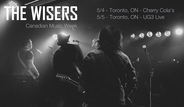 Playing #yyz this week! Toronto peoples come on down May 4 @ Cherry_Colas  May 5 @UG3Live ‪#‎CMW2016‬‬ #rocknroll