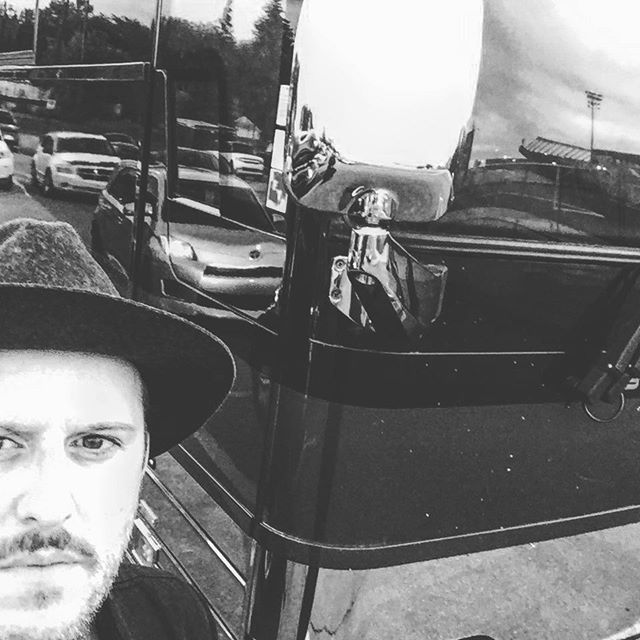 Selfie #2, waiting by Chad K's bus for the coveted shot #fireaid4ymm