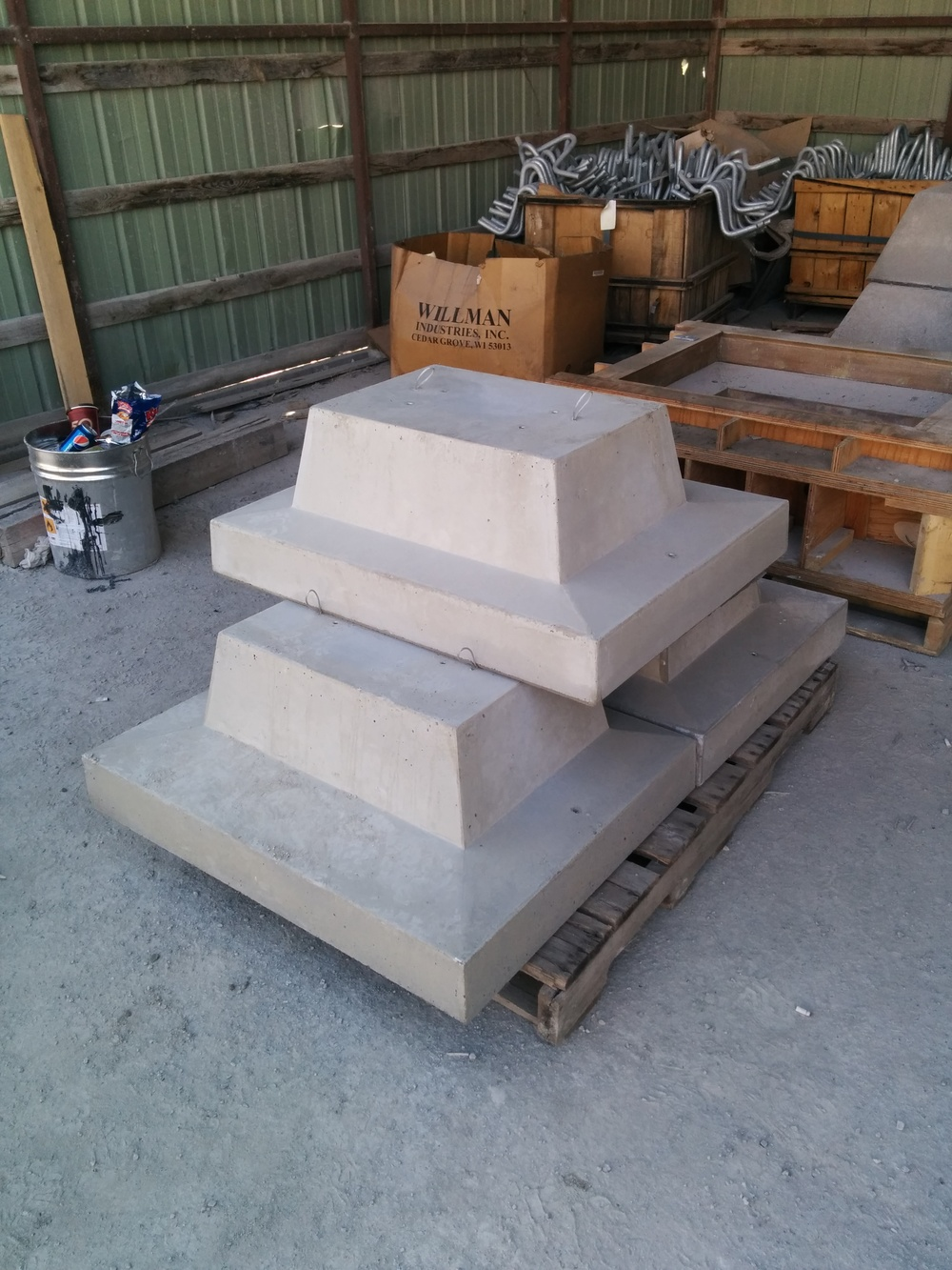 I sourced a precast concrete producer to create prototypes for testing.