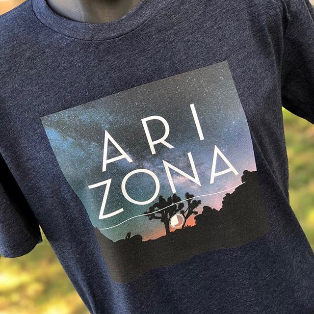A beautiful compliment to Arizona's fiery sunrises and sunsets, Desert Stars celebrates the tranquility of our starry night skies. This design is available in both men's and women's. Check it out! // #junkiethreads