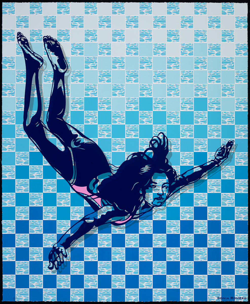 The Swimmer, by Sonia Romero, 2016