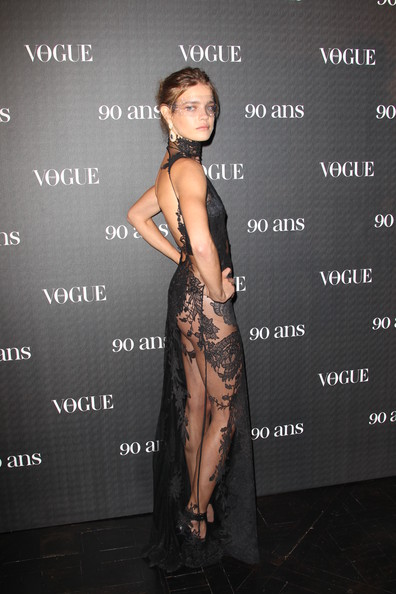Natalia sporting a sculpted look at the Vogue 90th Anniversary party.