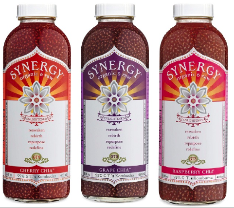 Organic, raw chia kombucha   . Available at Whole Foods.