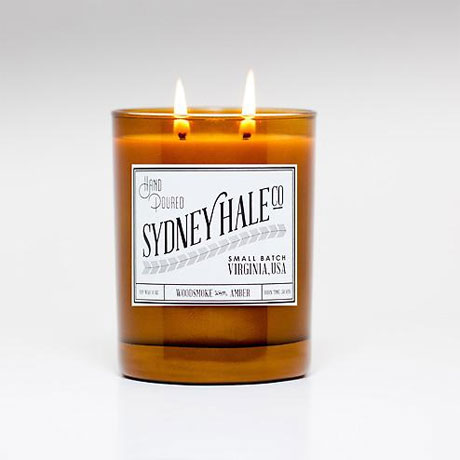 Sydney Hale and Co  Woodsmoke and Amber. A smokey and cozy scent.