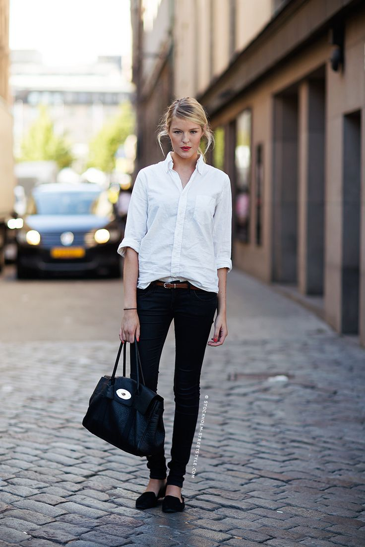 Paired with a classic. white shirt.