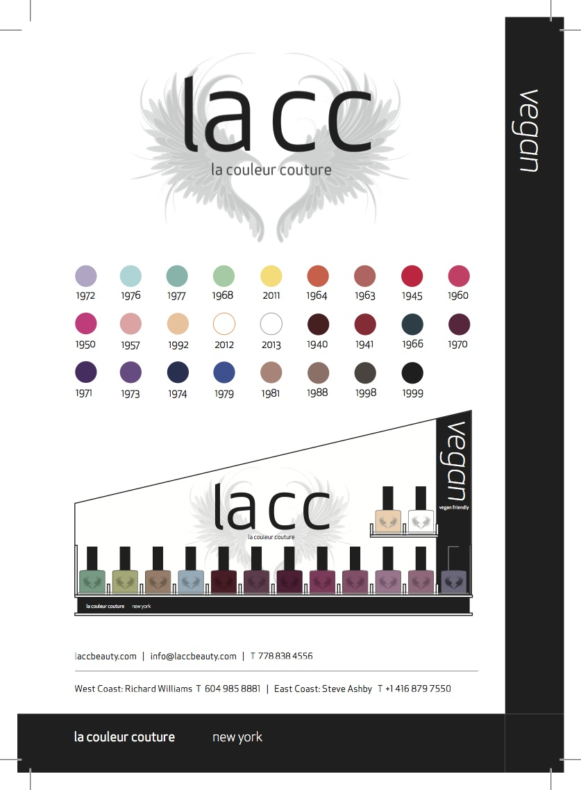 Lacc's entire collection.  My top picks are:  1988 a perfect taupe 1940 the perfect oxblood 1941 a must have red 1999 a  shimmery graphite