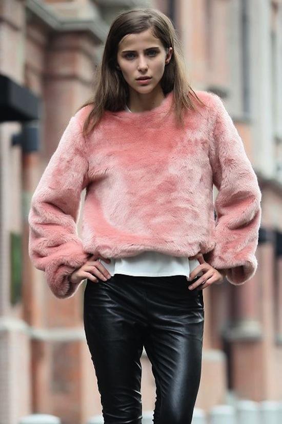 Street style genius in pink.