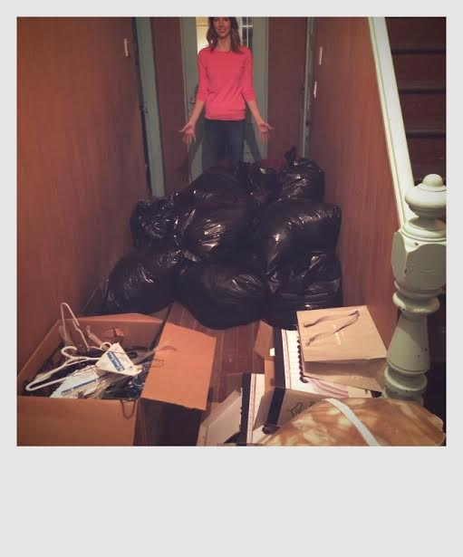 Here are the results of what we got rid of. It's a truly life changing experience to let go of the things that are weighing us down.... stay tuned for the video clip next week to view the full results of Kelsey's cleaned out closet!
