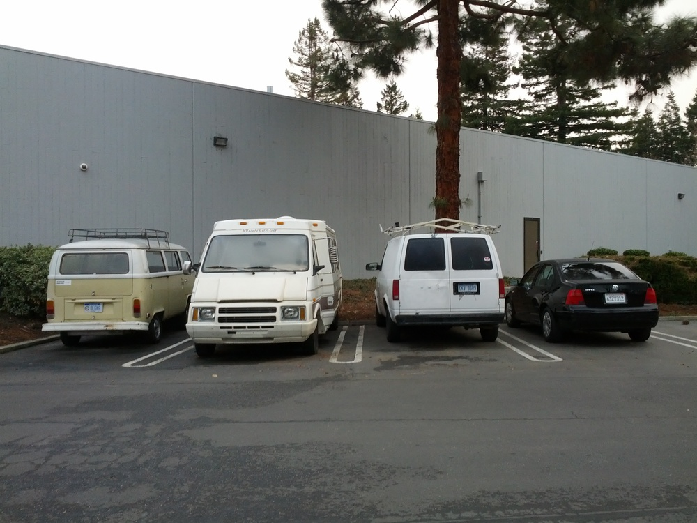 Pete & Kara's fleet of vehicles. Come stay in one of our guest houses!