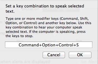 Set Keyboard combination prompt window.
