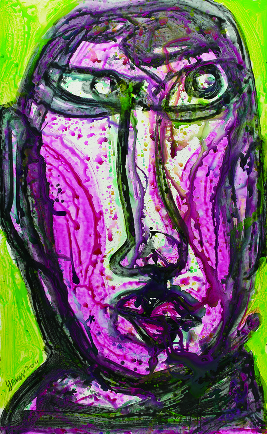 面對面 Face To Face 264x151cm 2011 壓克力‧畫布  Acrylic on canvas(3).jpg