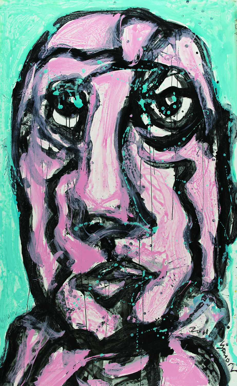面對面 Face To Face 264x151cm 2011 壓克力‧畫布 Acrylic on canvas (1).jpg