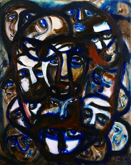 百面相 Faces   油畫.畫布 Oil on Canvas   130×162cm 2013