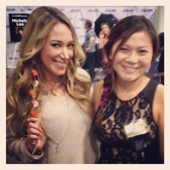 Haylie Duff wearing Flower Child Hair accessories