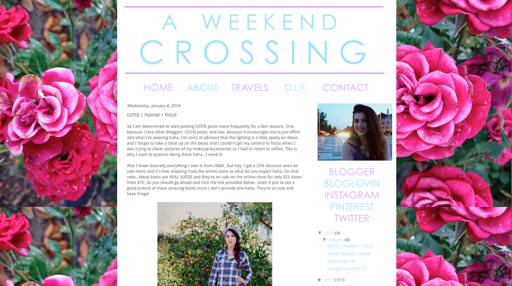 Click for A Weekend Crossing Full Feature: http://aweekendcrossing.blogspot.com/2014/01/ootd-flannel-floral.html