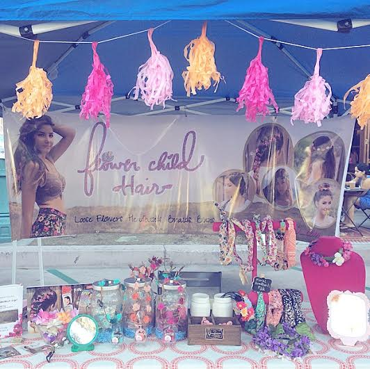 Our Flower Child Hair booth at the Vegan Faire. We're always ready for a hair party!