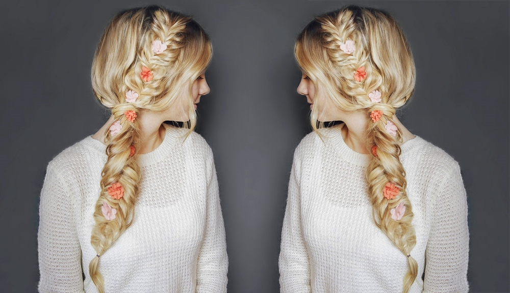 Flower Child Hair Double Fishtail Braid