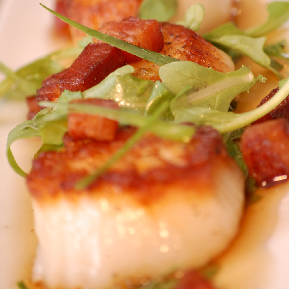 Seared Scallops | Pancetta | Arugula