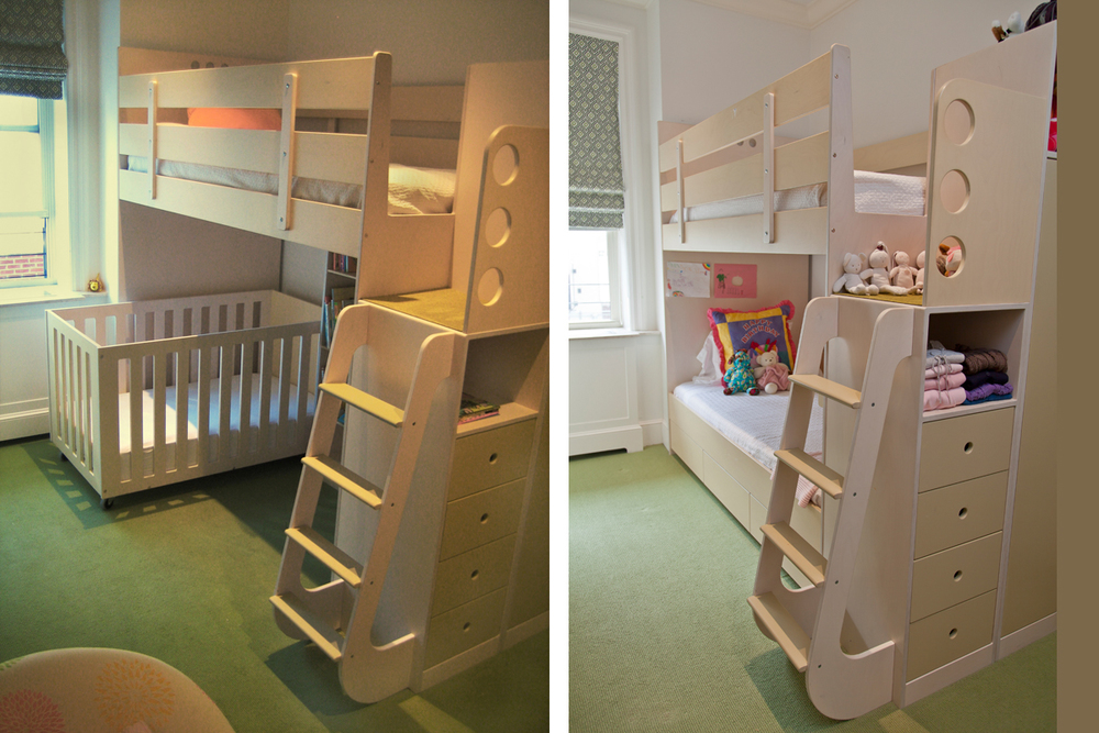 Twin bunk beds with desk - This Design Is Ideal When There Is An Age Difference Of At Least Five