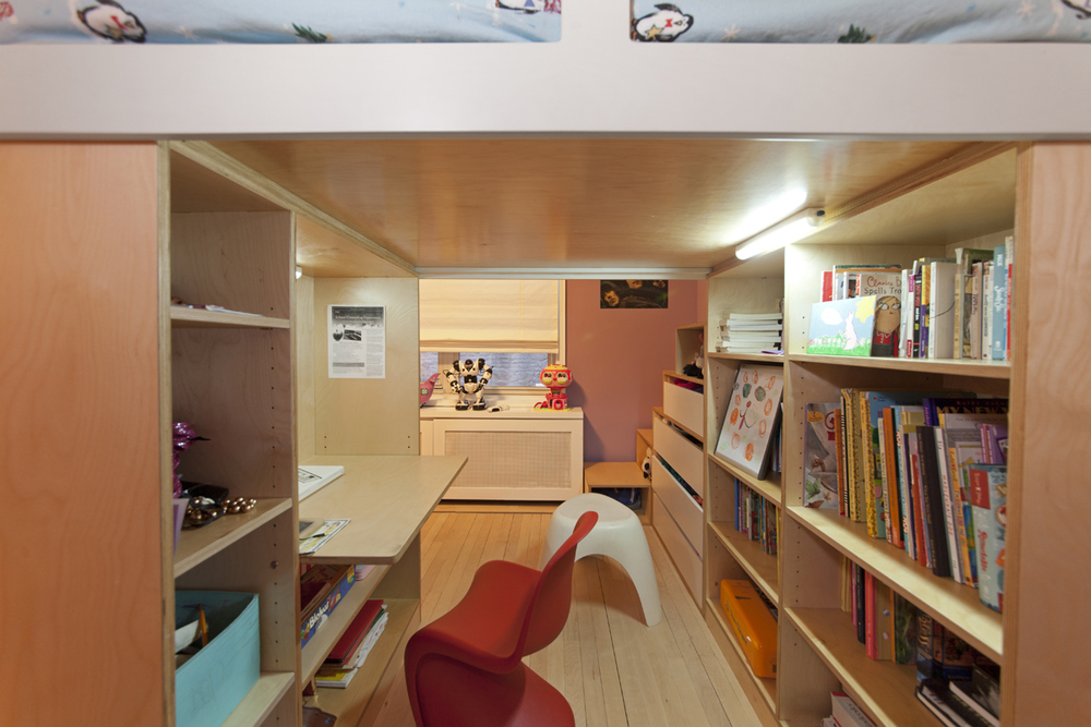 casa kids desk under loft bed