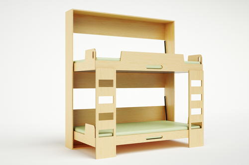 Compact Bunk Beds tuck double compact bed — casa kids