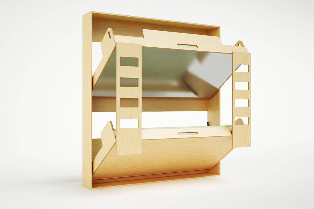 Откидная двухъярусная кровать чертежи фото