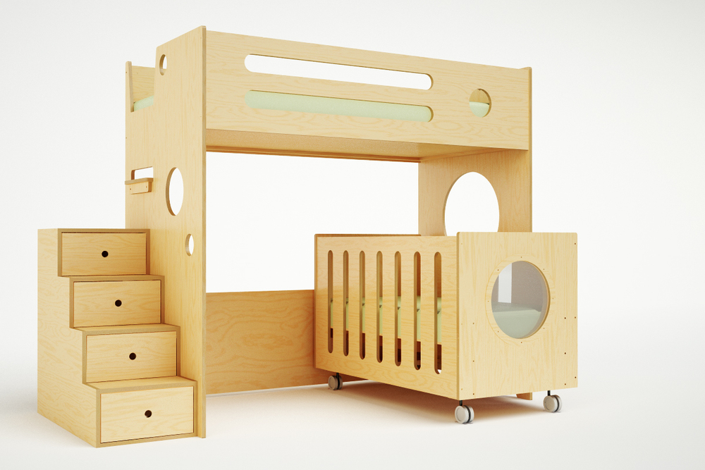 Marino Bunk Bed Over Crib Casa Kids
