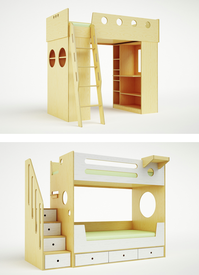 bunk beds and loft beds for children