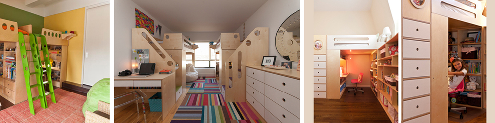 Kids' rooms designed and built by Casa Kids throughout the years