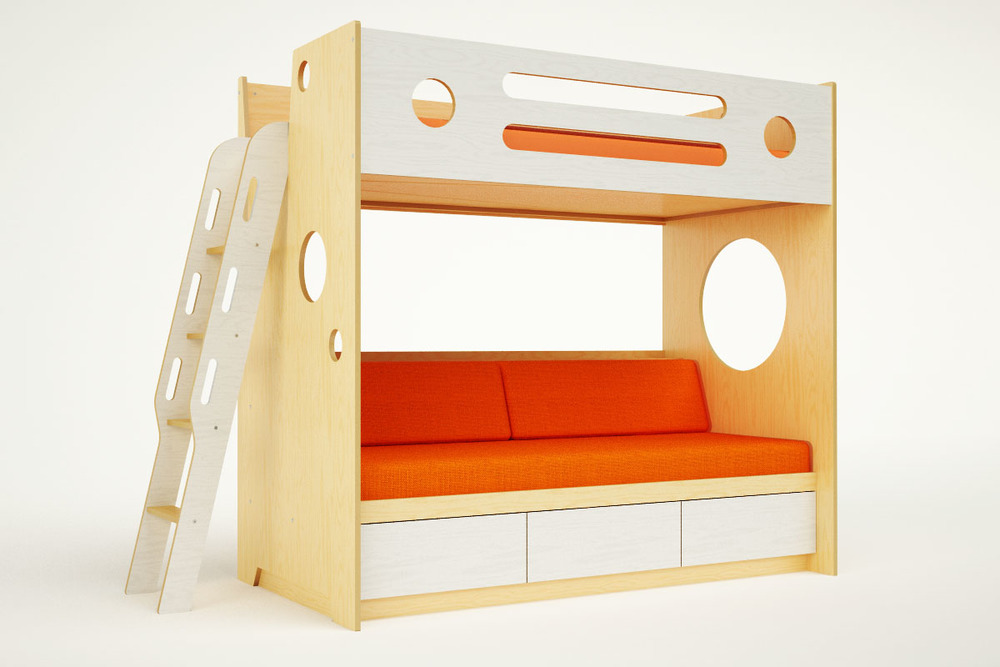 Marino Bunk Over Daybed With Ladder Casa Kids