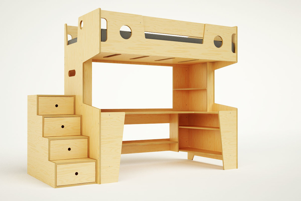 Merveilleux MARINO LOFT BED WITH STAIRS