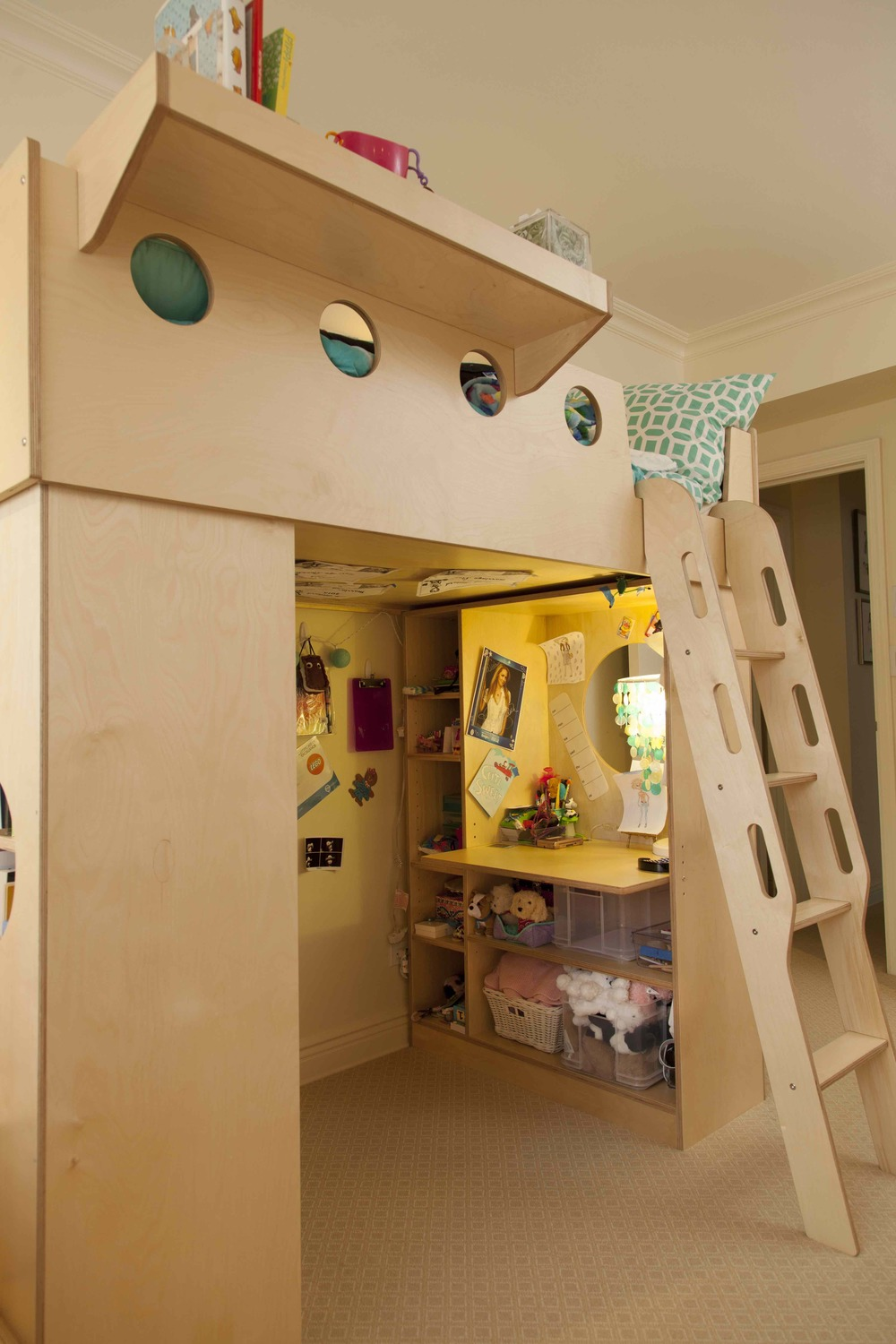 casa kids-loft bed-workspace