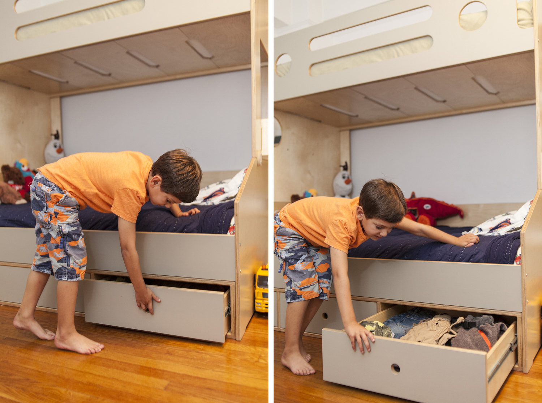 Casa kids custom trundle storage drawers