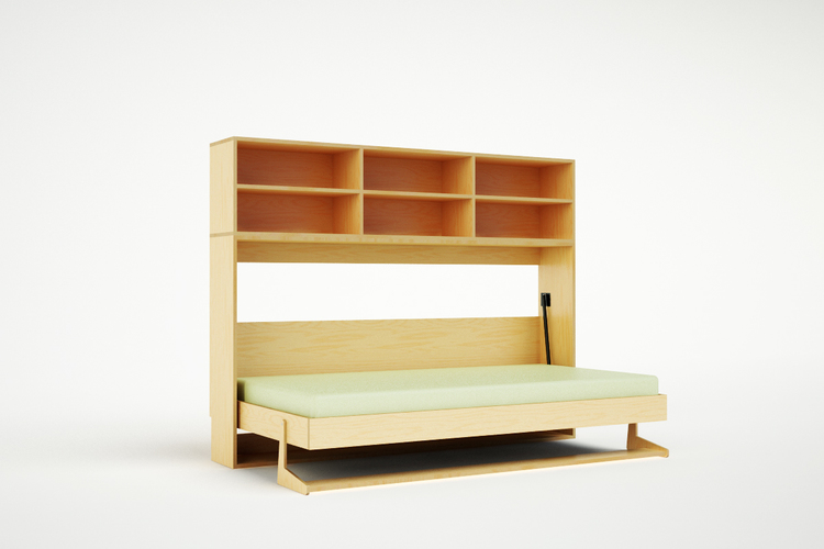 Tuck bed horizontal casa kids Modern murphy bed